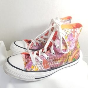 Converse All Star HighTop Sneakers Pink Womens 5.5